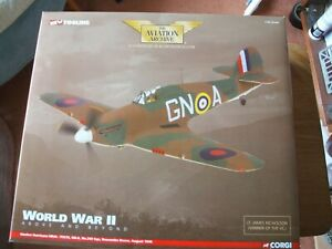CORGI AVIATION ARCHIVE AA35501 HAWKER HURRICANE WORLD WAR TWO ABOVE AND BEYOND