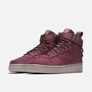 Nike Women SF Air Force 1 Mid Force AJ1698-600 Vintage Wine Size 6.5