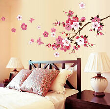 Flying Peach Blossom Flower Butterfly Mural Wall Stickers Vinyl Art Decals Decor