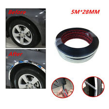 5M Silver Car Wheel Rubber Eyebrow Protector Lip Arch Rubber Trim Fender Strip