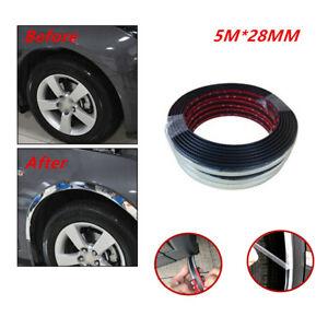 5M Silver Car Wheel Rubber Eyebrow Protector Lip Arch Rubber Trim Fender Strip