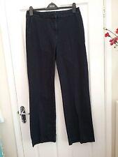 M & S Autograph Womens Indigo Blue Stretch Denim Bootcut Trousers Size   12 Leg