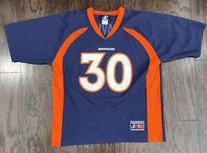 Vintage Terrell Davis 30 Denver Broncos NFL Football Jersey Men XL Logo Athletic