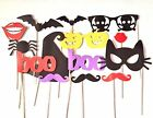 14pcs PARTY MASK PHOTO BOOTH PROPS HALLOWEEN STICK WEDDING BIRTHDAY PHOTOGRAPHY