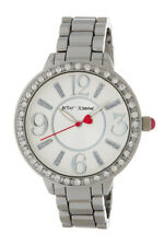 New Womens Betsey Johnson Stainless Steel Band Bling Watch BJ00397-10 $69