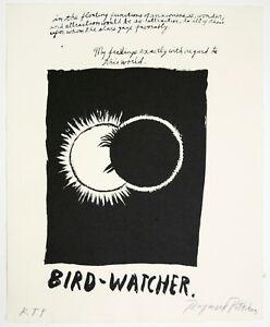 Raymond Pettibon: Untitled (Bird Watcher) 2018. Signed, Numbered, Fine Art Print