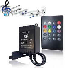LED IR Music Remote Controller 20 Key Sound Sensor for RGB 5050 3528 Strip Light