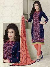 Radiant Cotton Embroidered Salwar Suit Dress Material D.NO NKT1130