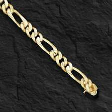 """14k Solid Gold Handmade Figaro Curb link men's chain/necklace 22"""" 58 Grams 7 MM"""