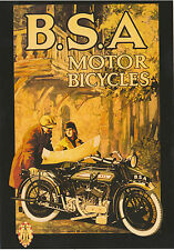 ROBERT  OPIE  ADVERTISING  POSTCARD  -  B.S.A.  MOTOR  CYCLES