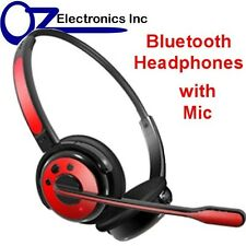 NEW Wireless PS3 Bluetooth Stereo Headset Mic playstation 3 iphone 5 6 Nokia RED