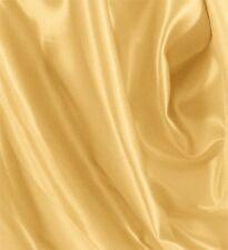 """10 Yards Shiny Bridal Satin Fabric 60"""" - Light Gold"""