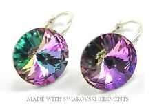 *RIVOLI* 29 Colours - Sterling Silver Earrings made with Swarovski Crystals - UK