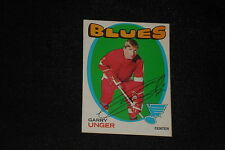 GARRY UNGER 1971-72 TOPPS SIGNED AUTOGRAPHED CARD #26 BLUES