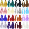 80cm Long Curly Wavy Hair Wigs Women Cosplay Party Synthetic Fiber Hairpieces