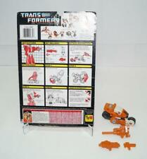 Afterburner WITH CARDBACK Vintage Hasbro 1987 G1 Transformers Action Figure