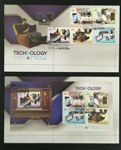 MAFD307) Australia 2012 Technology - Then & Now FDC (2 covers)
