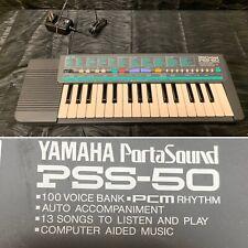 Yamaha PSS-50 Portasound 100 music instrument  Settings Keyboard with Cord