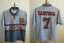 KIDS Manchester United #7 Cantona 1995/1996 Away Sz Y Umbro shirt jersey soccer
