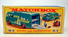 "Matchbox Kingsize K-05B Racing Car Transporter leere ""E"" Box"
