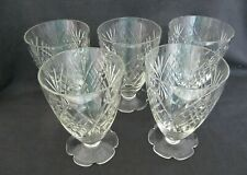 5 Vintage Cordial / Water / /Juice / Wine Glasses - VGC