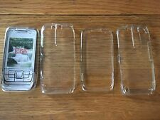 2 x CLEAR CRYSTAL HARD PLASTIC CASES COVERS SHELLS - NOKIA E66 MOBILE PHONES