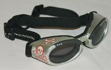 Doggles ILS - Goggles with Smoke Lens for Small Dogs with Skull Design