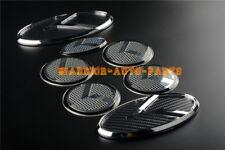 For KIA OPTIMA K5 3D K  2011 - 2017 carbon fibre Logo Badge Emblem Gray A