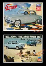 SIMCA 1000-10X15 CM carte postale SIMCA 1100 FOURGON DEPANNEUSE