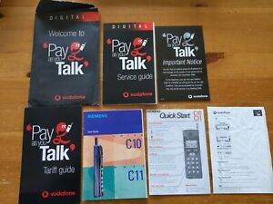 Vodafone 1998 Pay As You Talk Digital Pack For Siemens C10/C11 Vintage