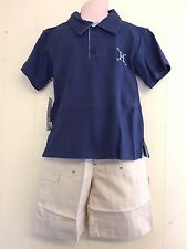 Lovely Blue Rugby Style Top Shirt & Beige Trousers by Hamilton - Age 2 yrs  BNWT
