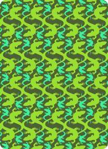 4FUN - Scalda collo scarf 8 in 1 in micro fibra Standard - colore Lizard Green
