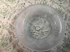 """Celebrations Crystal Clear 8"""" Seasons Greetings Candle Plate Collectors Lot#0298"""