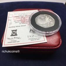 [2012 IOM Xmas]1x Isle of Man Christmas 50p Silver Proof Coin--Box & COA