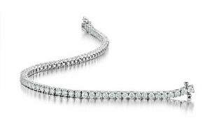 Top quality-  3.46 Ct F/SI 100% Natural Round Diamond Tennis Bracelet White Gold