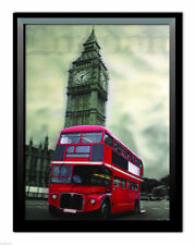 Framed 3D Lenticular Picture 3 Dimensional Print 30cm x 40cm  London Red Bus NEW