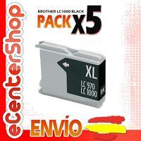 5 Cartuchos de Tinta Negra LC1000 NON-OEM Brother DCP-540CN / DCP540CN