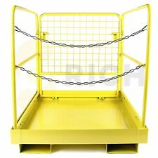 36 X 36 Foldable Heavy Duty Forklift Safety Cage Steel Work Platform 1105 Lbs