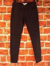 BCBGeneration Black Coated Moto Skinny Jeans  Size 24 Nwt! Retail $138.00