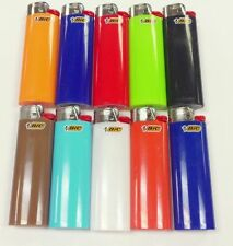 Bic Classic Cigarette Lighters Disposable Full Size Assorted Colors - Pack of 10