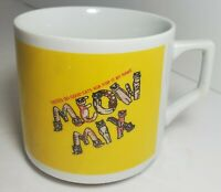 Vintage rare MEOW MIX 'Tastes so good Cats Ask for it By Name' Promo Coffee Mug