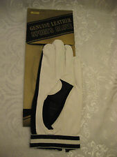 Lot of (3) VIEWS Men Golf Glove (L) & (R) Hand White Genuine Leather Mesh, Sz. L