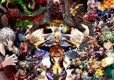 Poster A3 Boku No Hero Academia All Might Uraraka Todoroki Midoriya Bakugo 03