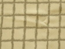 """1/2 Yd-GRAYISH TAUPE/TAN CHECK Medium to Heavy Weight QUALITY Fabric 38"""" Wide"""