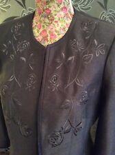 Jacques Vert Coco Salmon Range Brown Dress Jacket Size 12 Pristine Hols 9.5-16.6