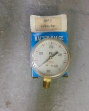 "NEW NATTCO GBP3 0-400 PSI PRESSURE GAUGE 2-1/2"" FACE"