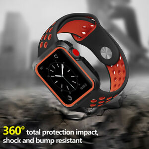 Protective Case / Watch Band iWatch Strap for Apple Watch Series 6/5/SE 40/44mm