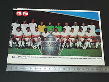CLIPPING POSTER FOOTBALL 1976-1977 OLYMPIQUE MARSEILLE OM VELODROME DROIT AU BUT
