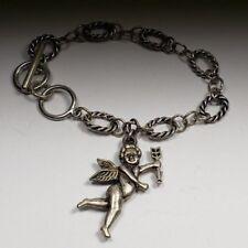 Angel wings arrow Charm Bracelet Silver Link Jewelry Handmade NEW Fashion Charm