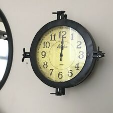 Large Industrial Styke Metal Wall Clock 24x34cm Rrp £110 With Hidden Compartment